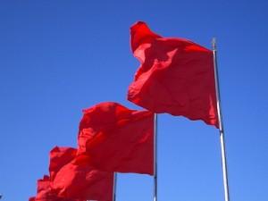 Red Flags: photo by Rutger van Waveren, flickr.com. Creative Commons